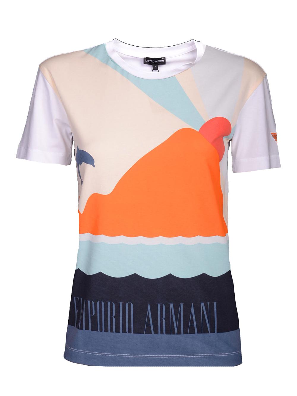 EMPORIO ARMANI Μπλούζα T-Shirt 3G2T62 2J07Z ΛΕΥΚΟ