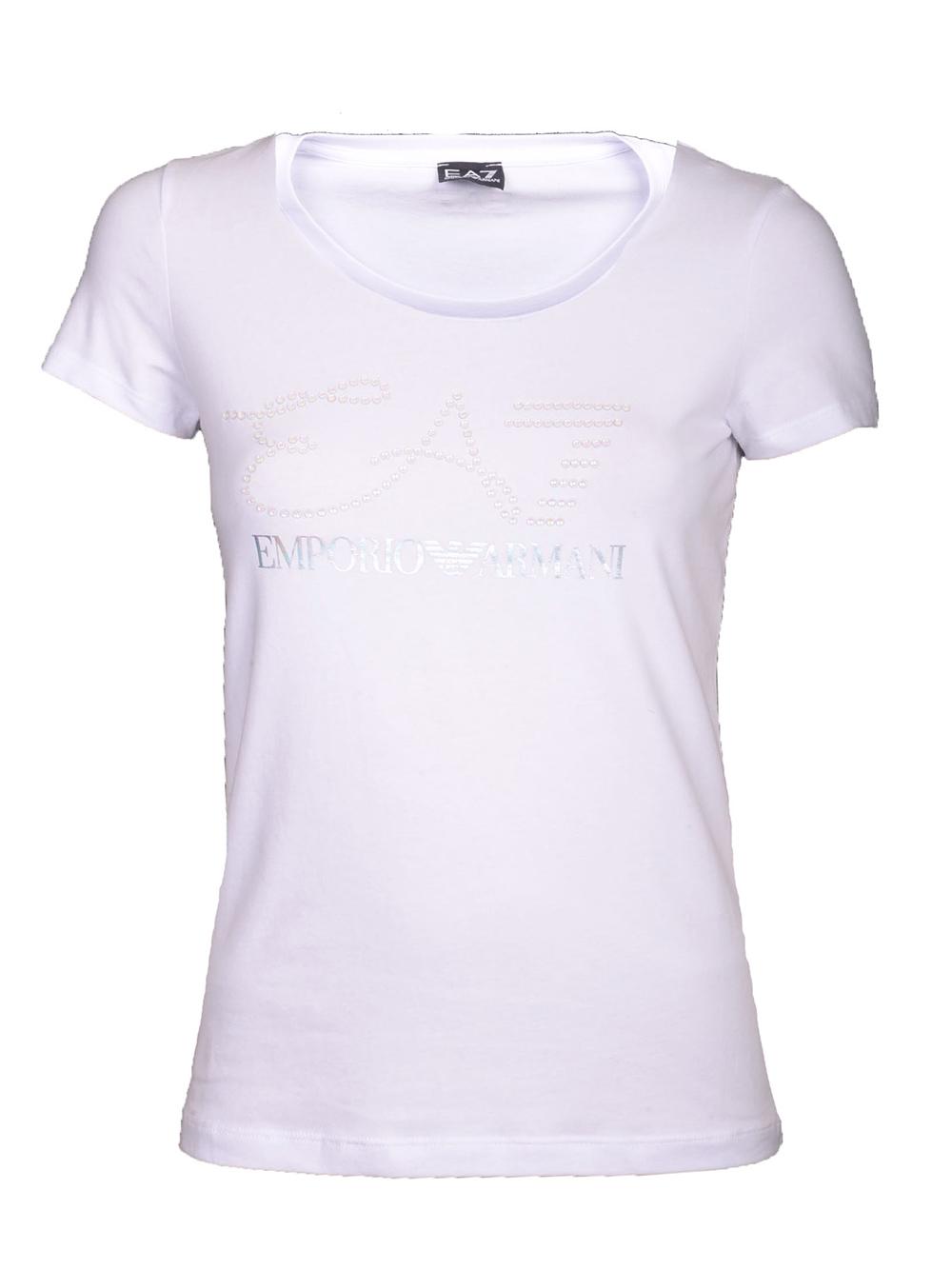 bff36b334a25 EMPORIO ARMANI Μπλούζα T-Shirt 3GTT18 TJ12Z ΛΕΥΚΟ