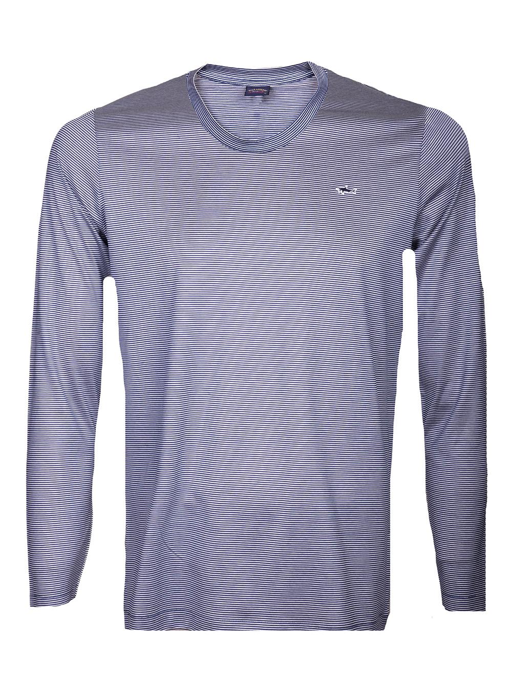 PAUL & SHARK Μπλούζα T-Shirt P19P1508 ΡΙΓΕ ΜΠΛΕ