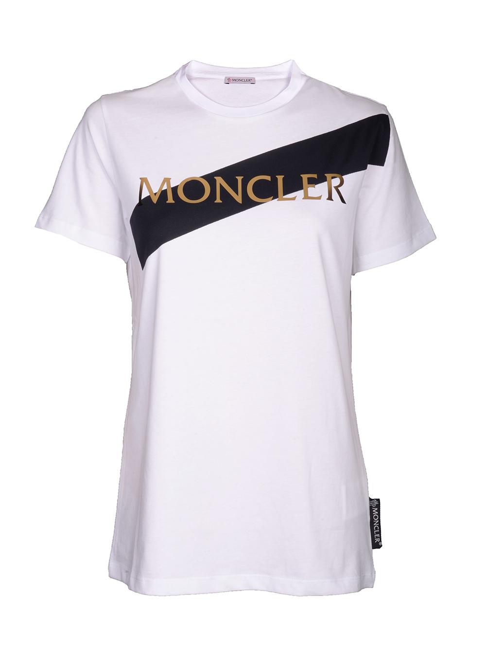 MONCLER Μπλούζα Τ-shirt E2-093-8091800 V8094 ΛΕΥΚΟ