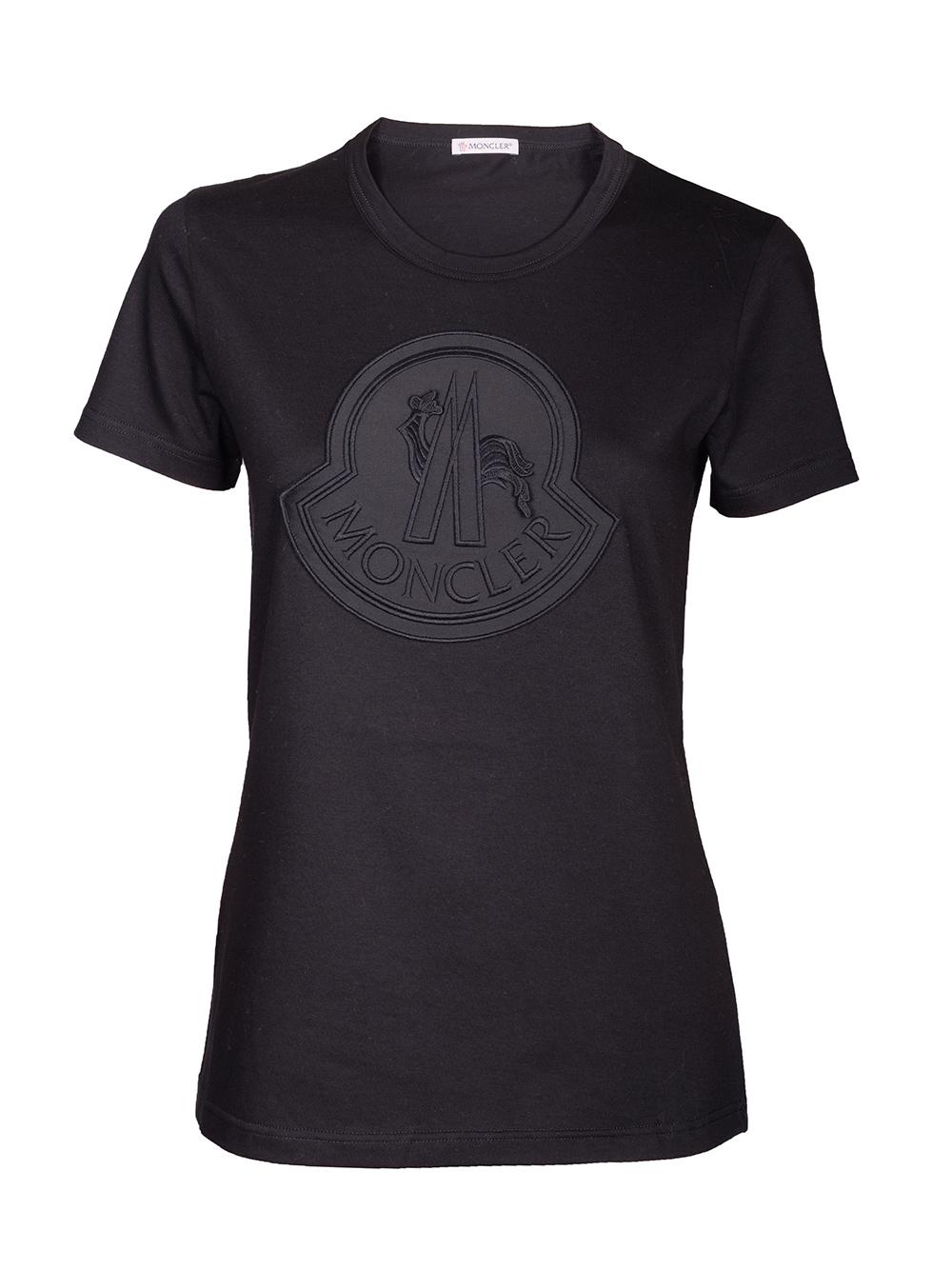 MONCLER Μπλούζα Τ-shirt E2-093-8091800 V8059 ΜΑΥΡΟ