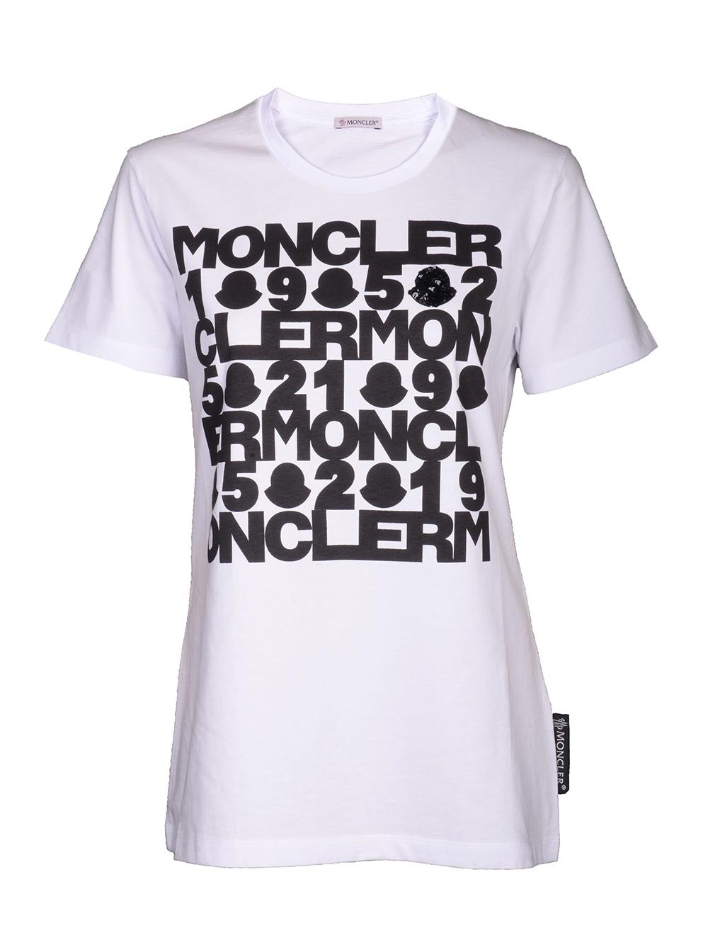 MONCLER Μπλούζα Τ-shirt E2-093-8090850 V8093 ΛΕΥΚΟ