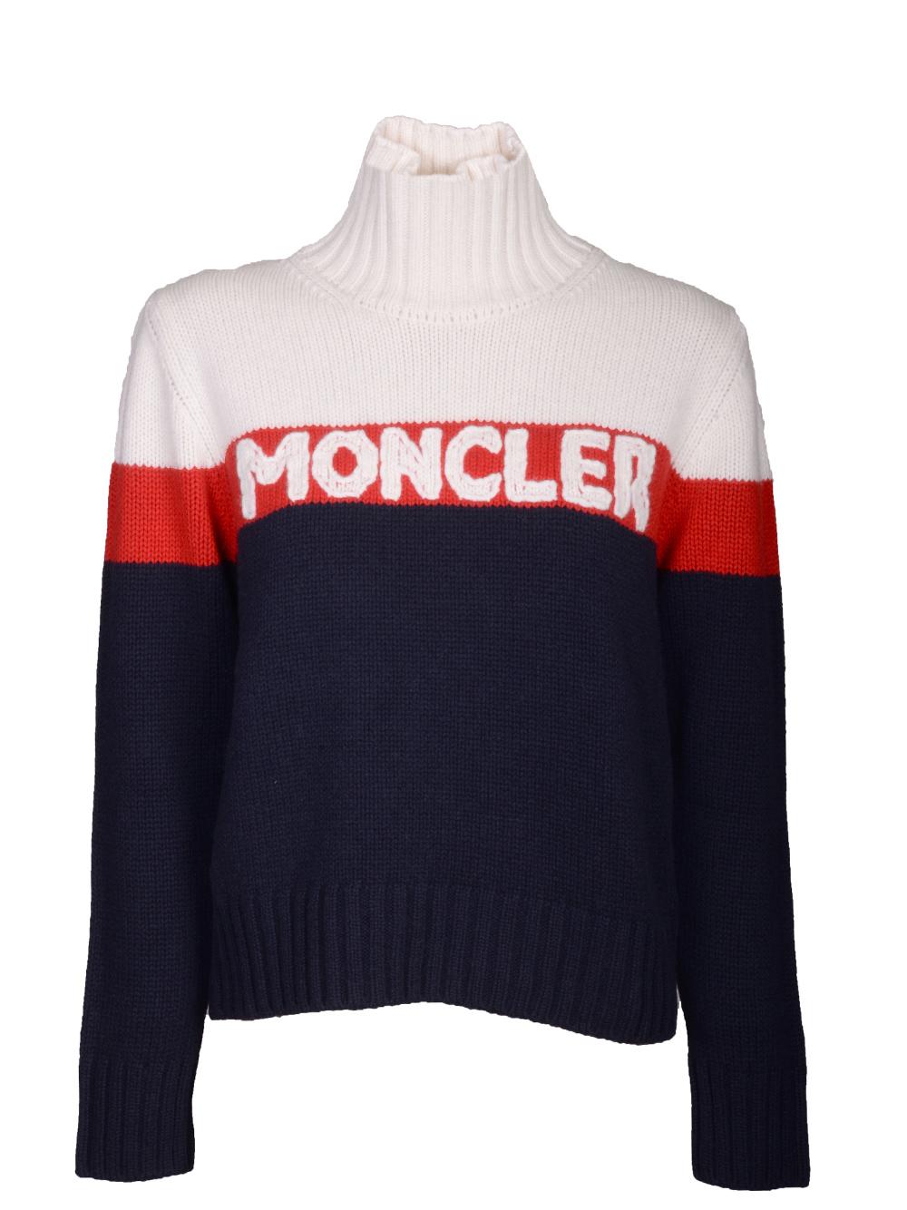MONCLER Μπλούζα όρθιος γιακάς E2-093-9252550 A9141 ΜΠΛΕ-ΜΠΕΖ