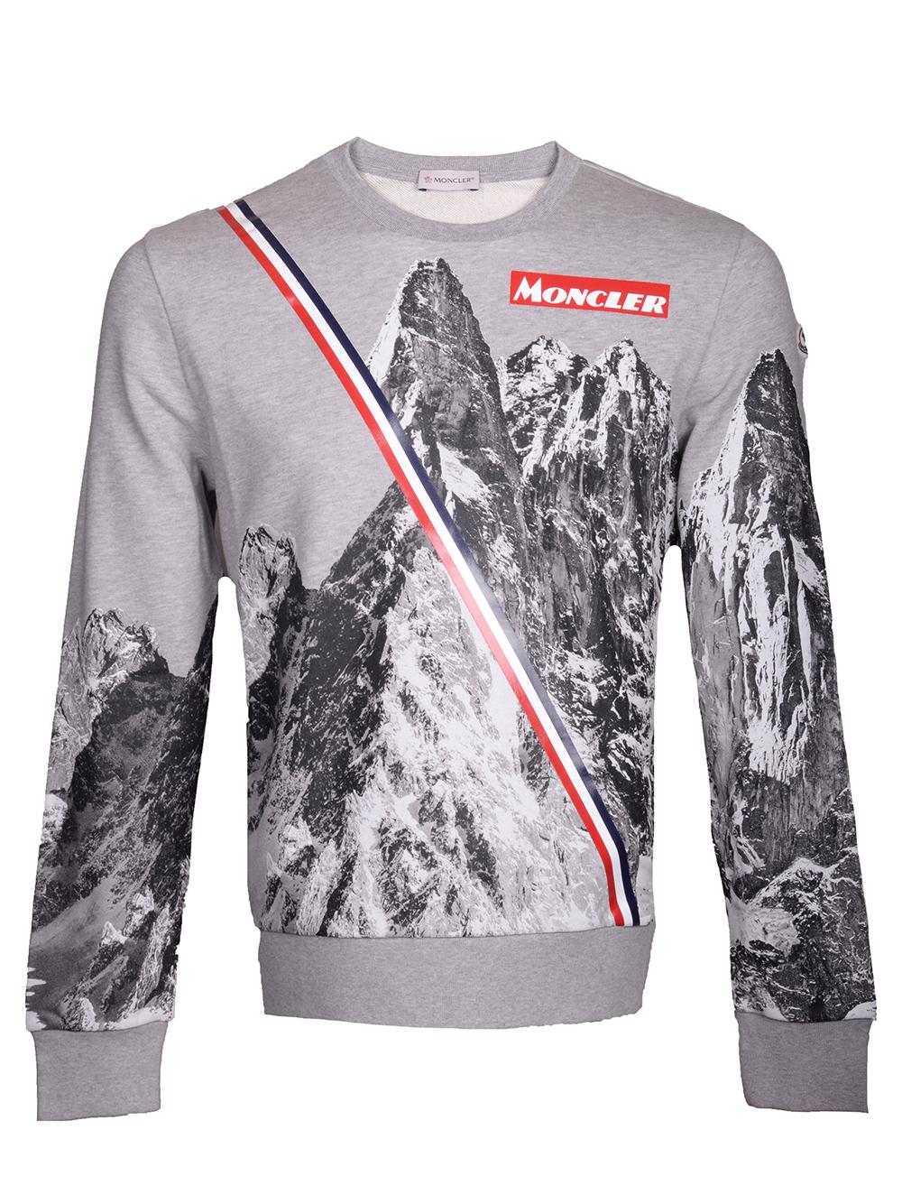 MONCLER Μπλούζα Τ-shirt E2-091-80479508 098U ΓΚΡΙ