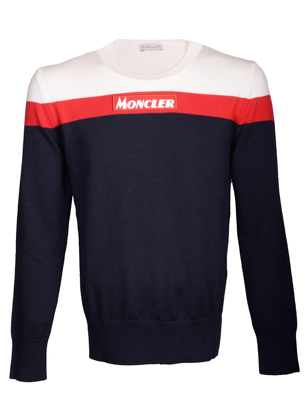 MONCLER Μπλούζα Τ-shirt E2-091-9042100 A909U ΜΠΛΕ