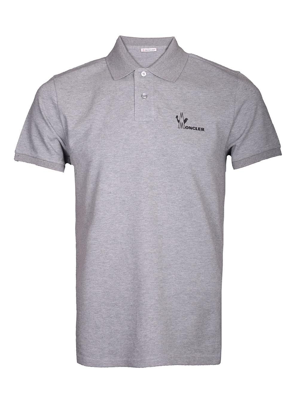 MONCLER Μπλούζα Polo E2-091-83244508 4556 ΓΚΡΙ