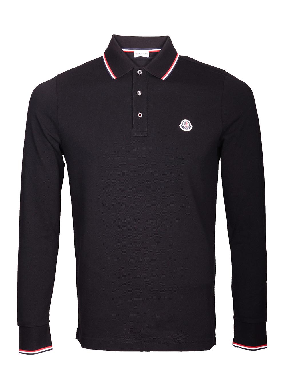 MONCLER Μπλούζα Polo E2-091-83480008 4556 ΜΑΥΡΟ