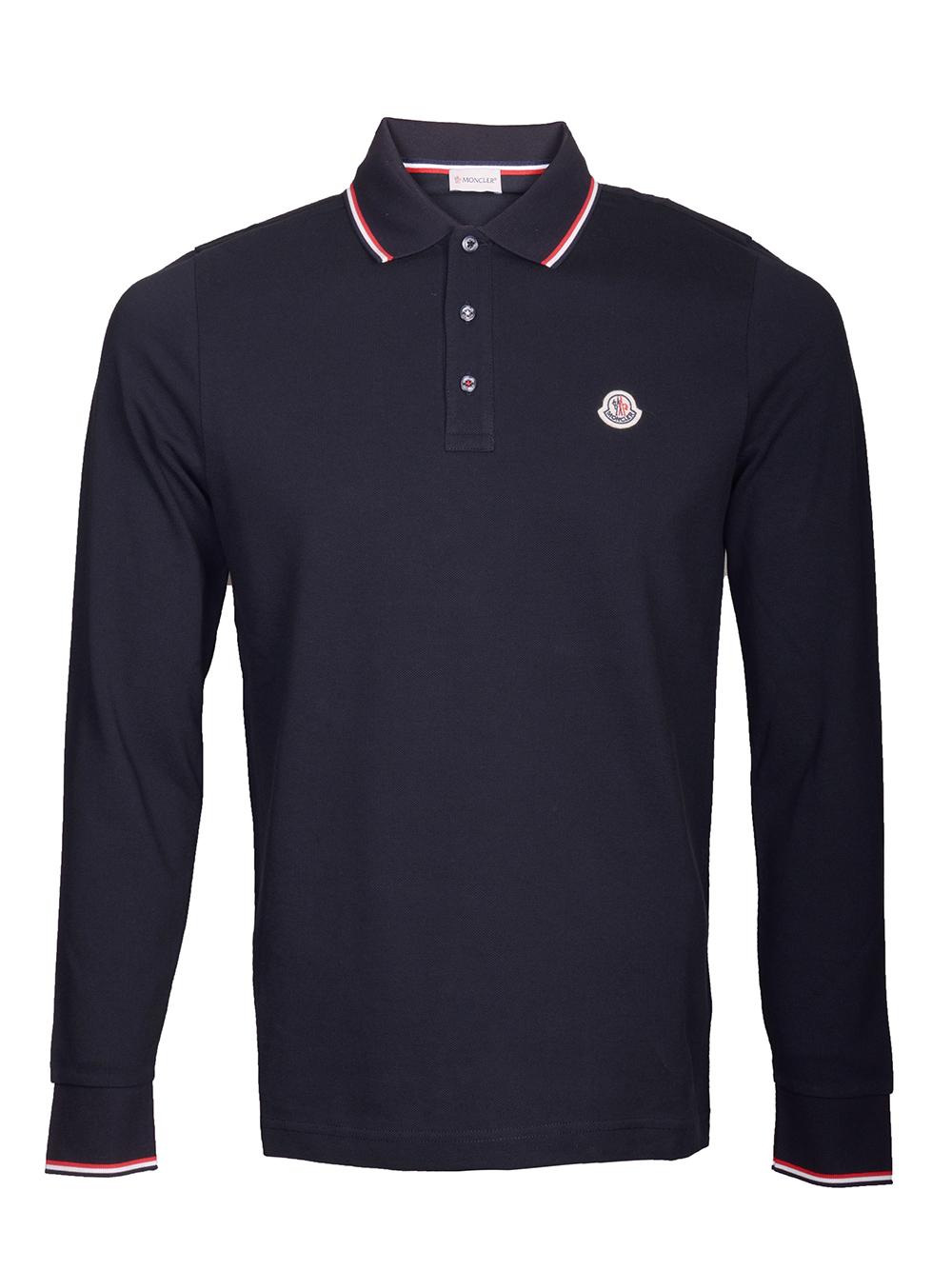 MONCLER Μπλούζα Polo E2-091-83480008 4556 ΜΠΛΕ