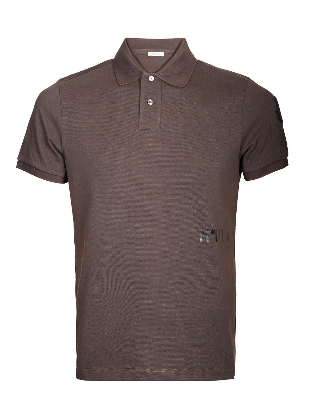 MONCLER Μπλούζα Polo E2-091-83251508 4556 ΧΑΚΙ