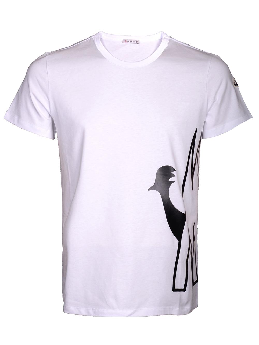 MONCLER Μπλούζα Τ-shirt E2-091-8046150 V8043 ΛΕΥΚΟ
