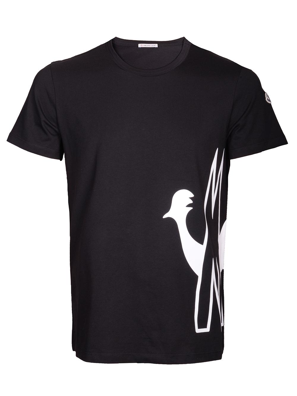 MONCLER Μπλούζα Τ-shirt E2-091-8046150 V8043 ΜΑΥΡΟ