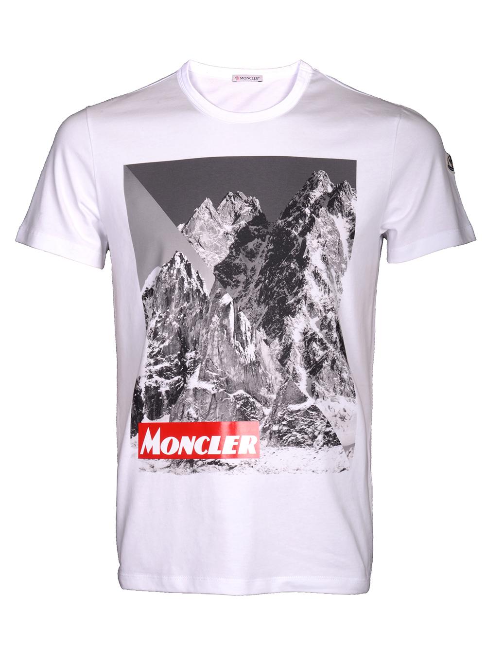 MONCLER Μπλούζα Τ-shirt E2-091-8048350 8390T ΛΕΥΚΟ