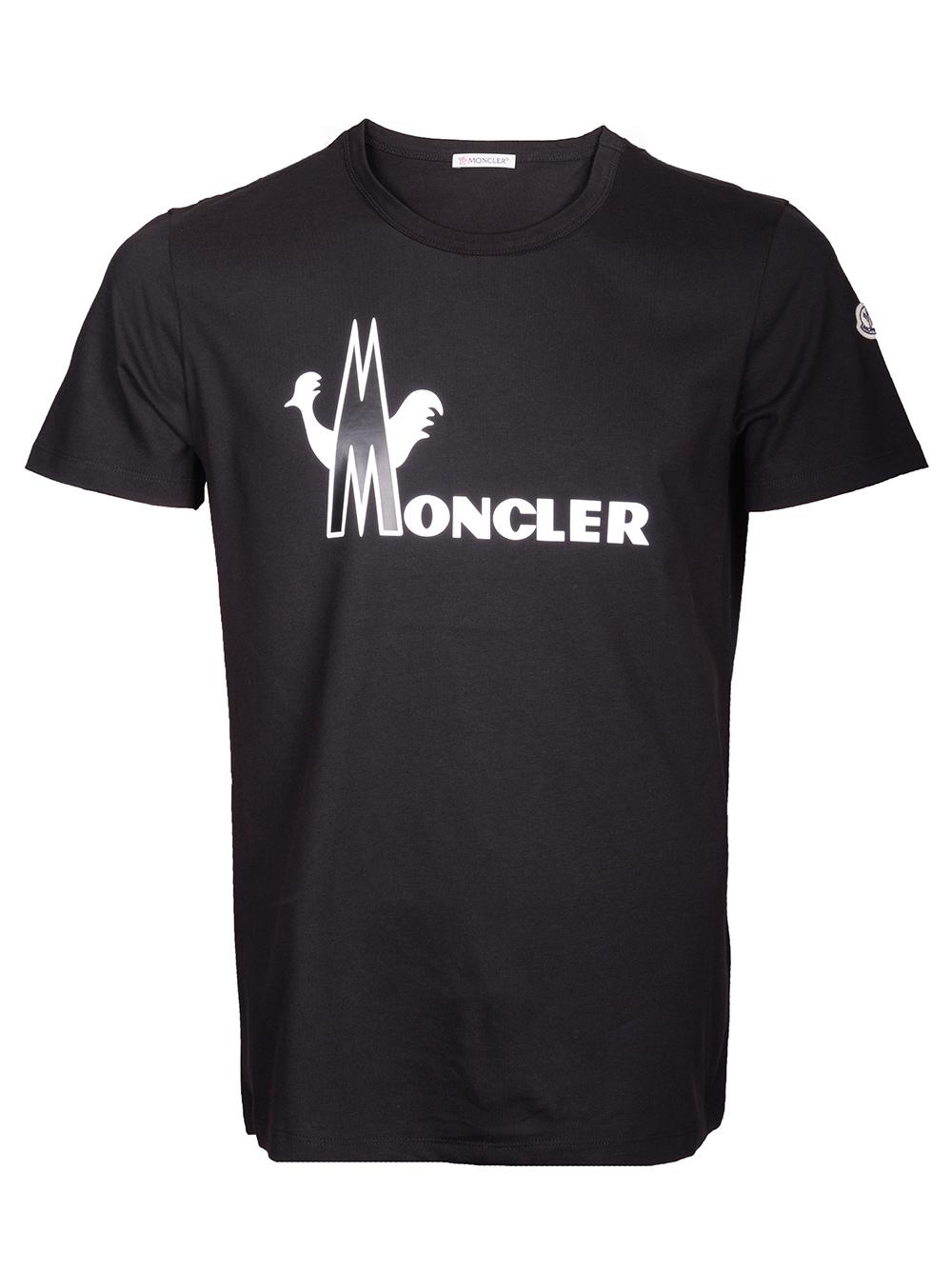 MONCLER Μπλούζα Τ-shirt E2-091-8046508 8390T ΜΑΥΡΟ
