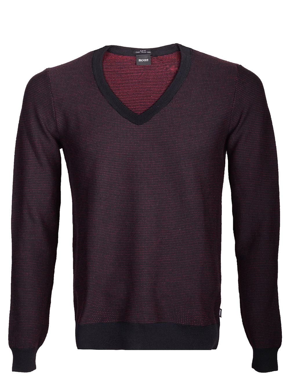 BOSS Μπλούζα πουλόβερ 50415789-001 ΜΑΥΡΟ