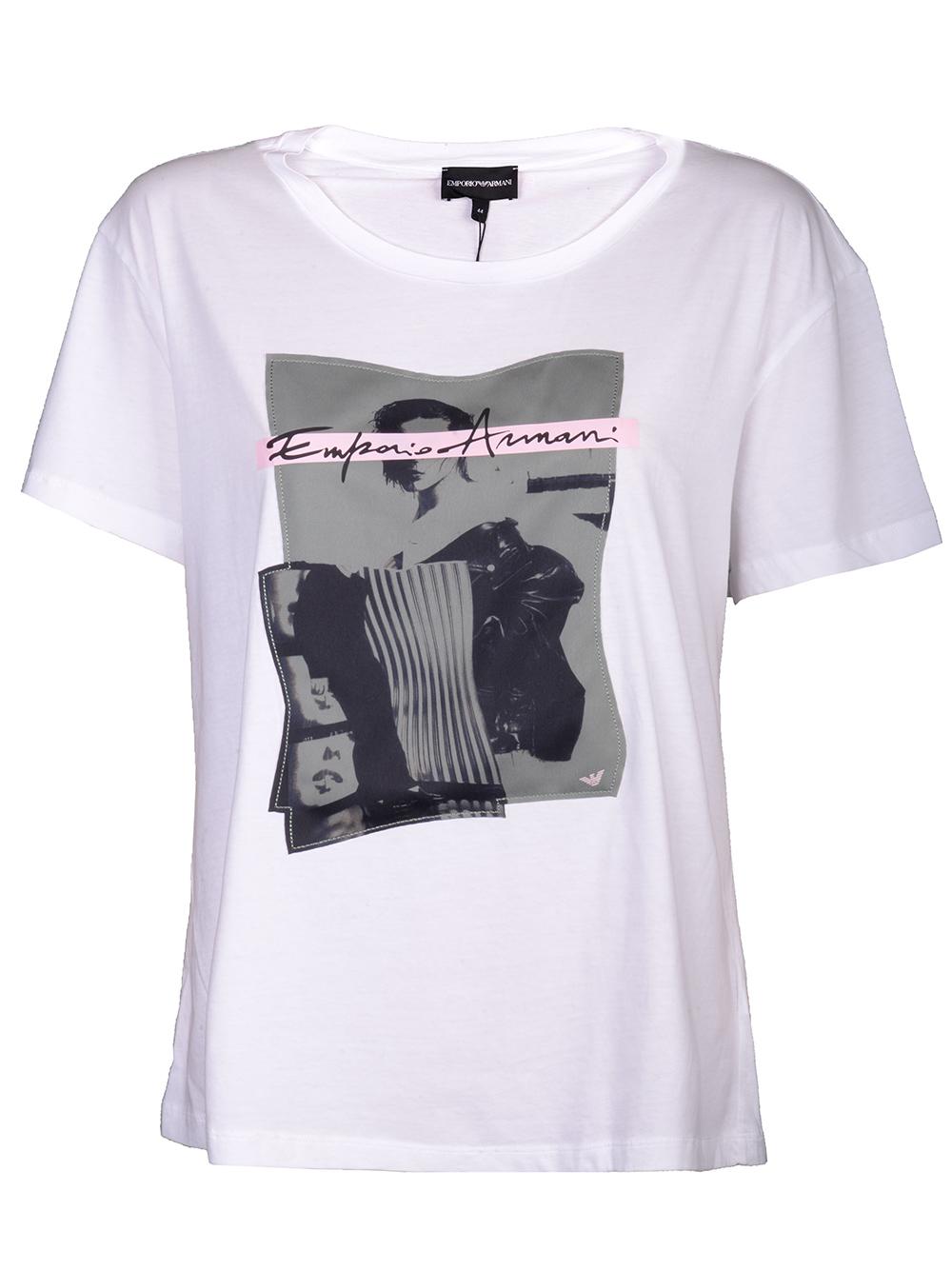 EMPORIO ARMANI Μπλούζα T-shirt 6G2T7D 2J50Z ΛΕΥΚΟ