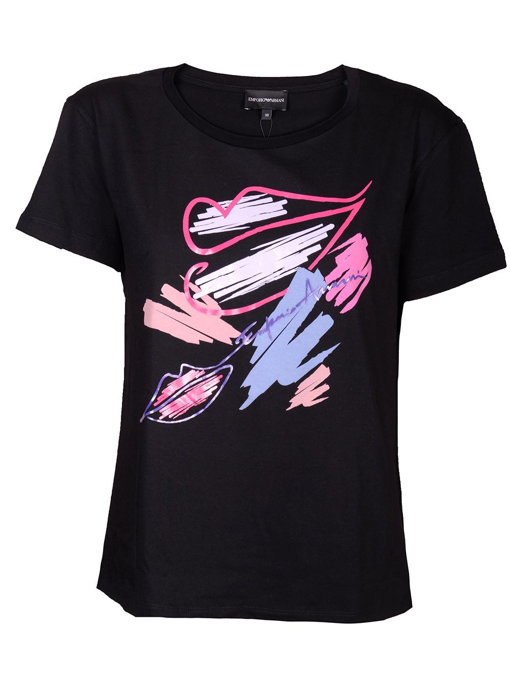 EMPORIO ARMANI Μπλούζα T-shirt 6G2T7U 2J53Z ΜΑΥΡΟ