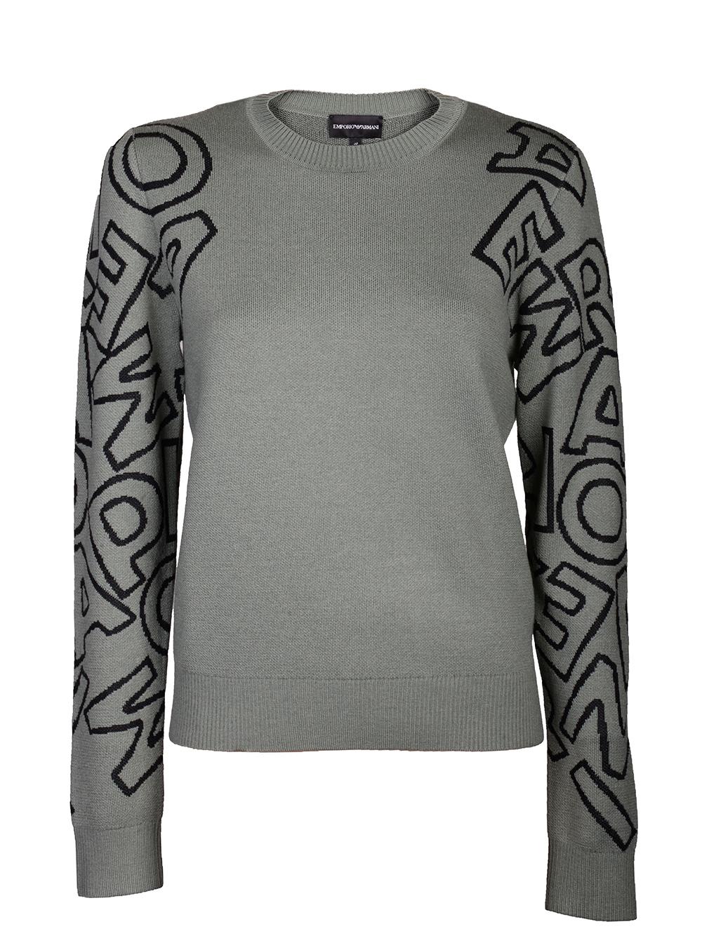 EMPORIO ARMANI Μπλούζα πουλόβερ 6G2MTC 2M15Z ΠΡΑΣΙΝΟ