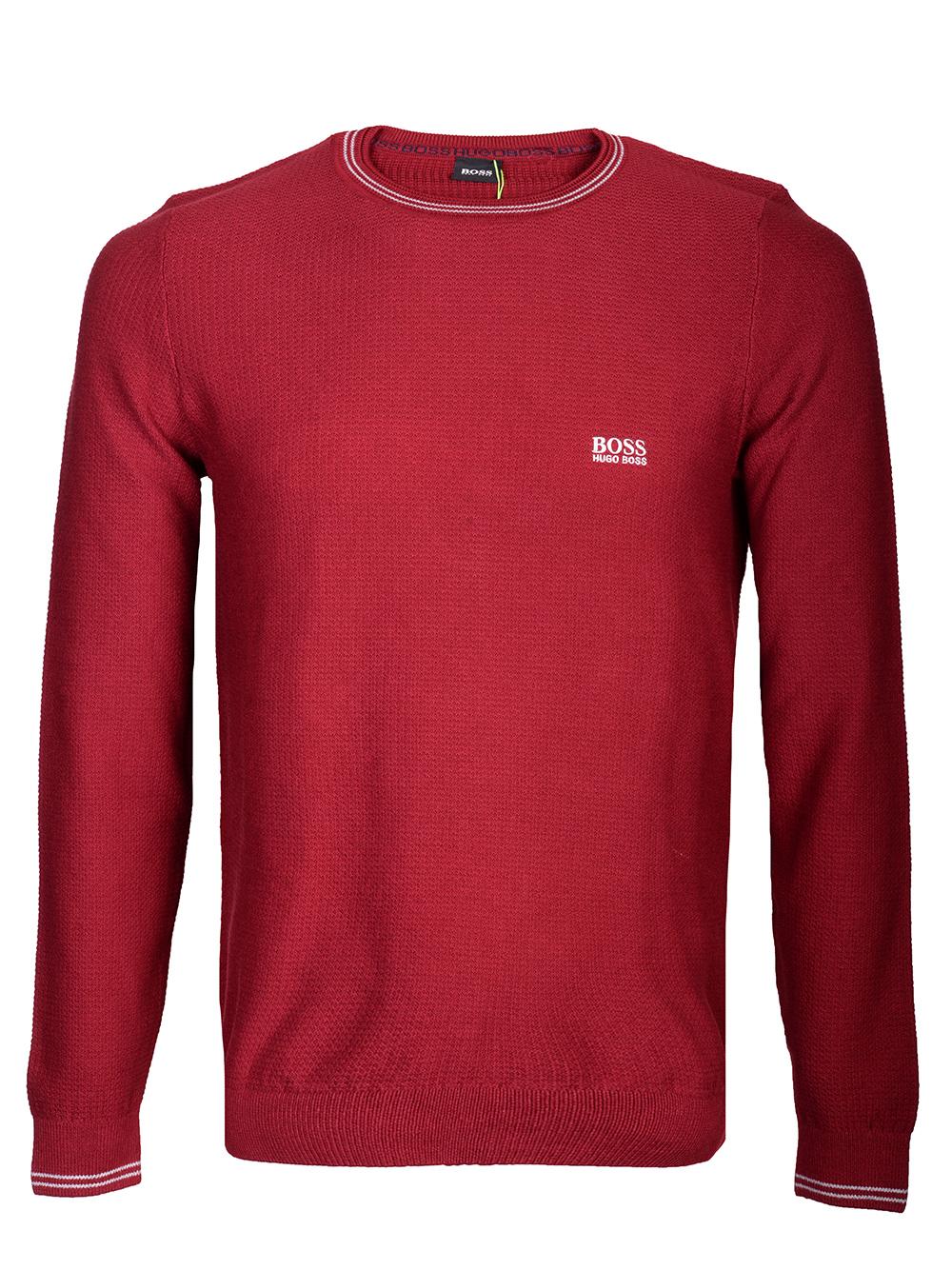 BOSS GREEN Μπλούζα πουλόβερ 50413659-604 ΜΠΟΡΝΤΩ