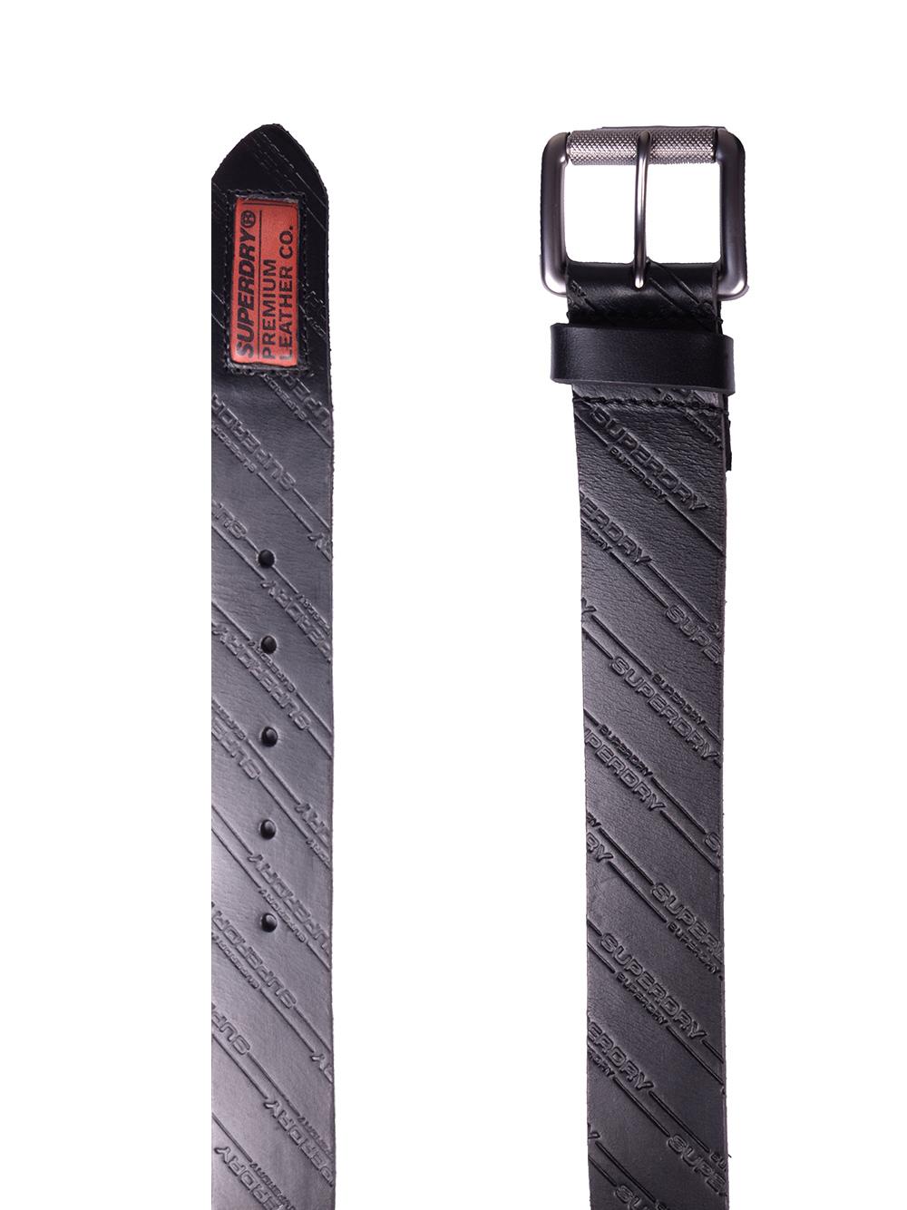 SUPERDRY Ζώνη ανδρική M9200001A-02A ΜΑΥΡΟ