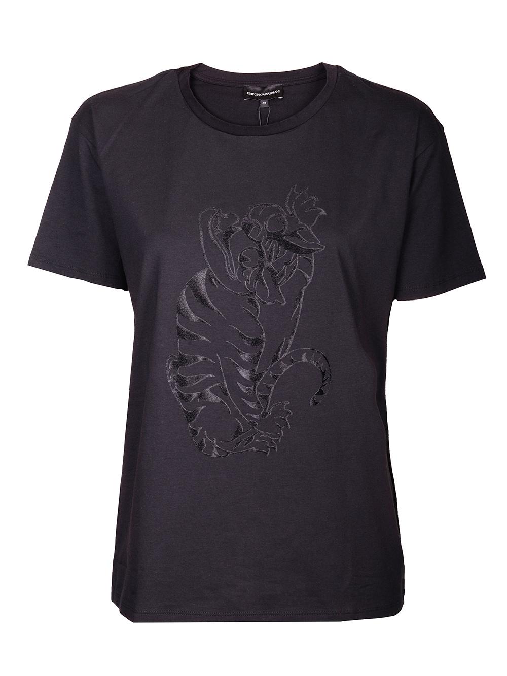 EMPORIO ARMANI Μπλούζα Τ-shirt 6G2T6E 2JQAZ ΜΑΥΡΟ