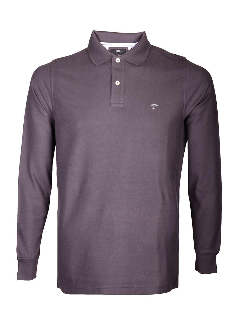 FYNCH-HATTON Μπλούζα Polo 1219 1701-970 ΓΚΡΙ