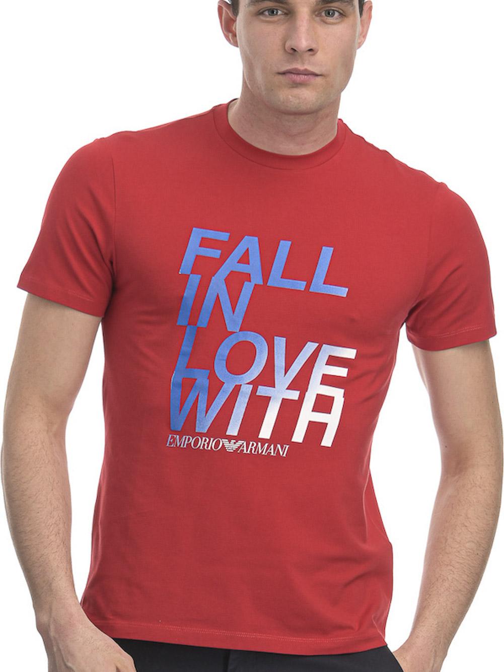 EMPORIO ARMANI Μπλούζα T-shirt 3H1T93 1J0AZ-0361 ΚΟΚΚΙΝΟ