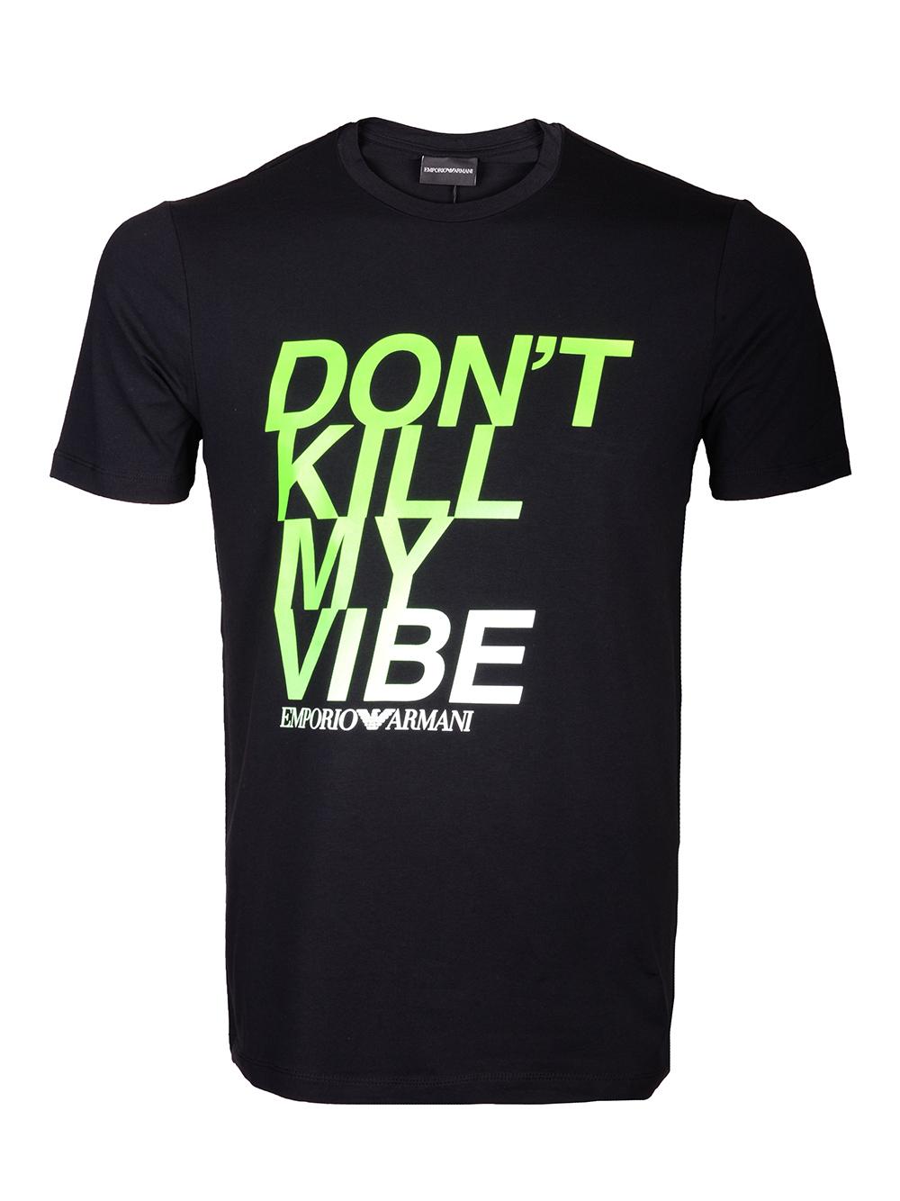 EMPORIO ARMANI Μπλούζα T-shirt 3H1T93 1J0AZ-0999 ΜΑΥΡΟ