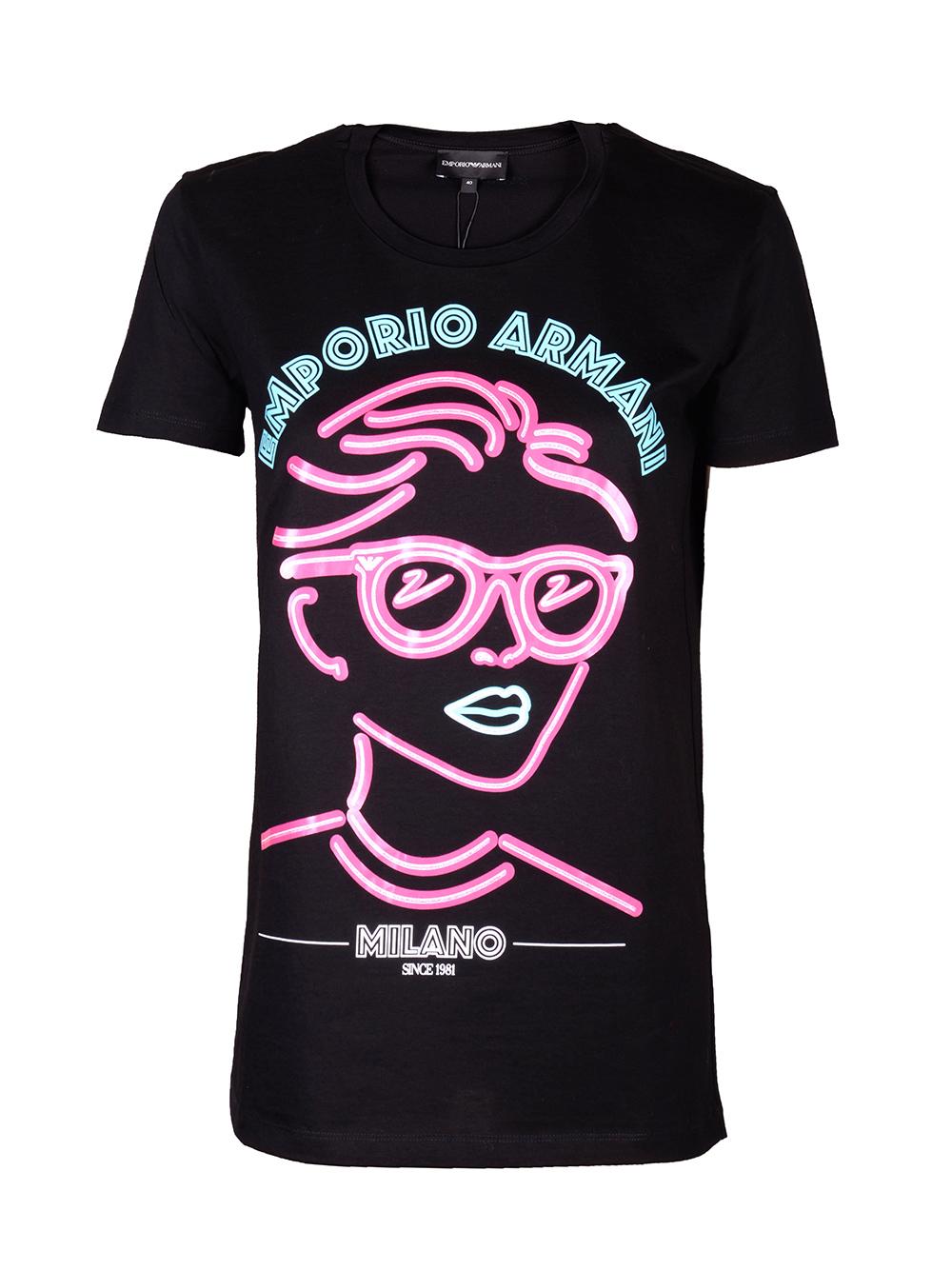 EMPORIO ARMANI Μπλούζα T-shirt 3H2T7H 2J95Z-0999 ΜΑΥΡΟ