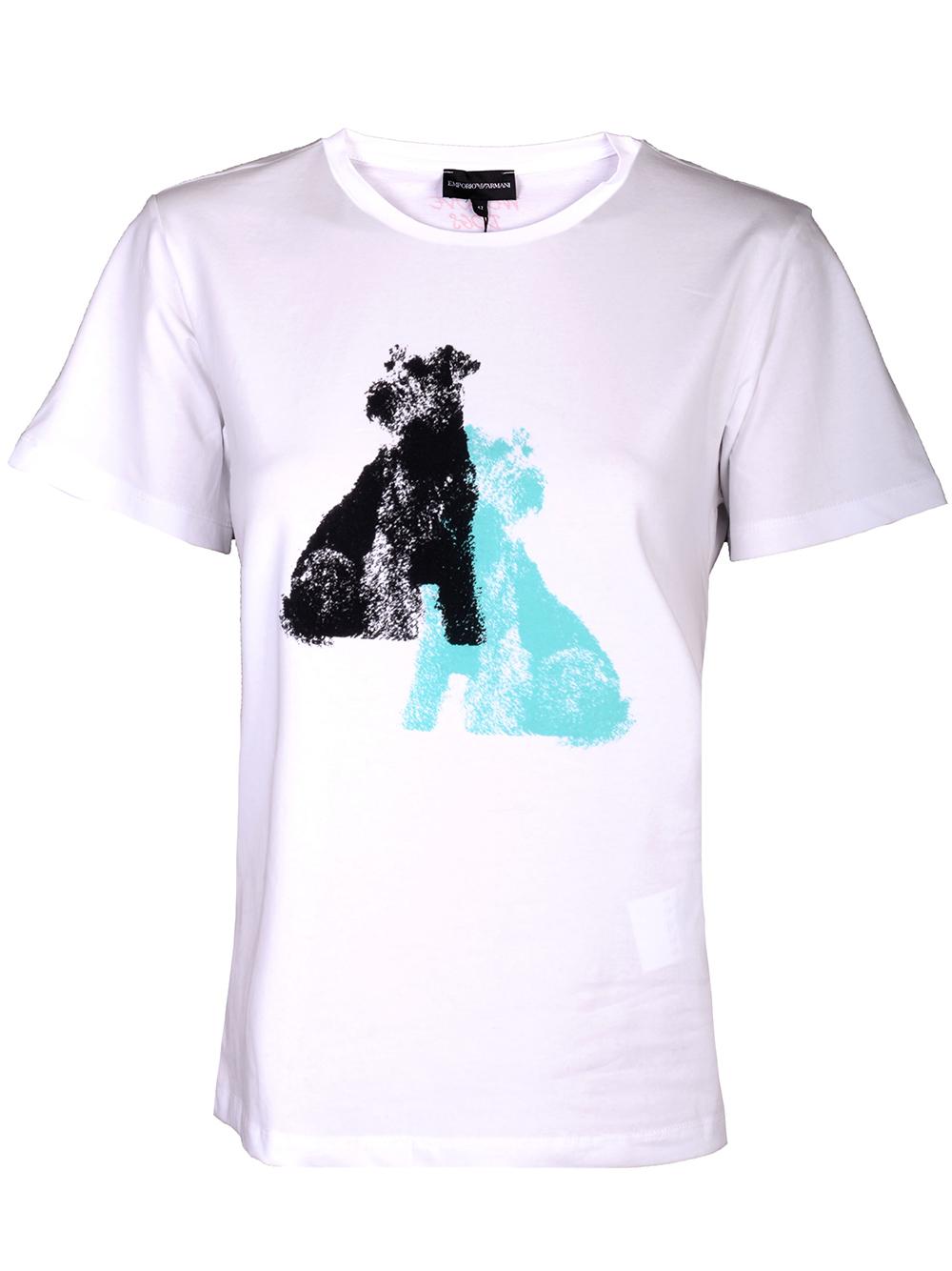 EMPORIO ARMANI Μπλούζα T-shirt 3H2T7E 2J07Z-100 ΛΕΥΚΟ