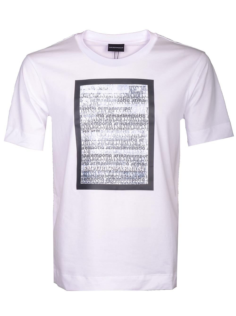 EMPORIO ARMANI Μπλούζα T-shirt 3H1TL0 1JCQZ-F160 ΛΕΥΚΟ