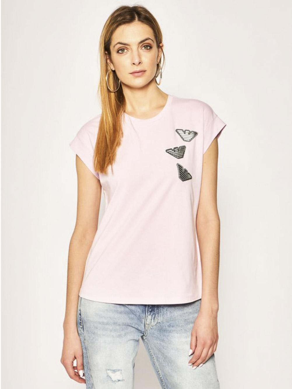 EMPORIO ARMANI Μπλούζα T-shirt 3H2T7D 2J07Z-0322 ΡΟΖ