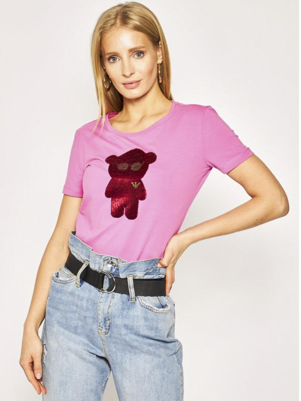EMPORIO ARMANI Μπλούζα T-shirt 3H2T6Q 2JQAZ-0309 ΦΟΥΞΙΑ