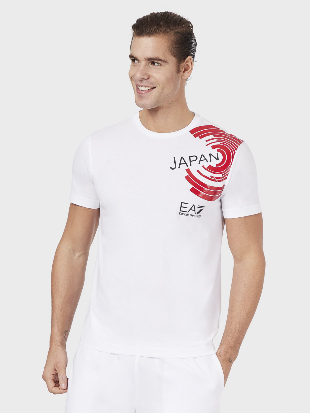 EMPORIO ARMANI Μπλούζα T-shirt 3HPT68 PJ02Z-0192 ΛΕΥΚΟ