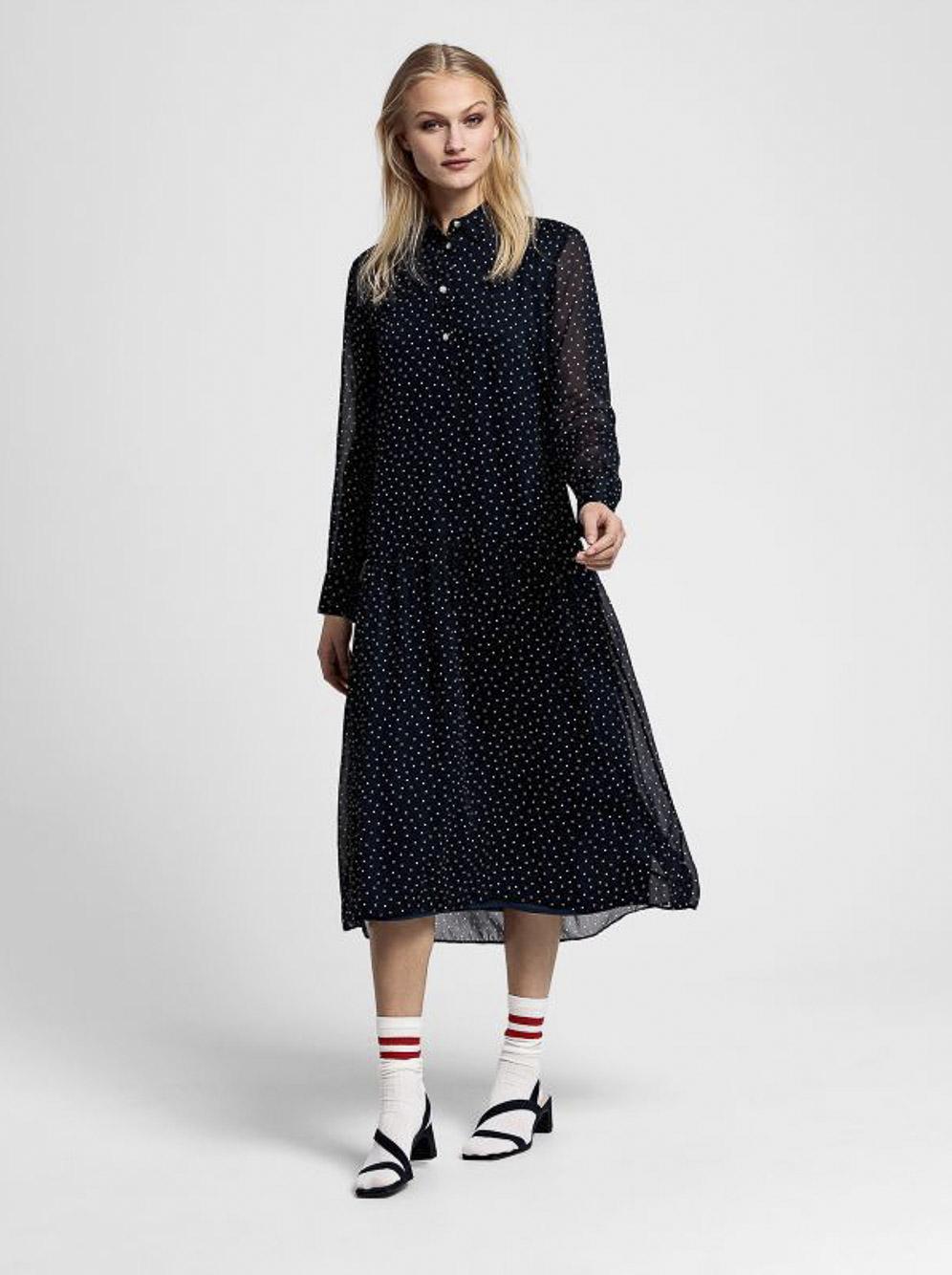 GANT Φόρεμα maxi 3GW4503083-433 ΠΟΥΑ ΜΠΛΕ