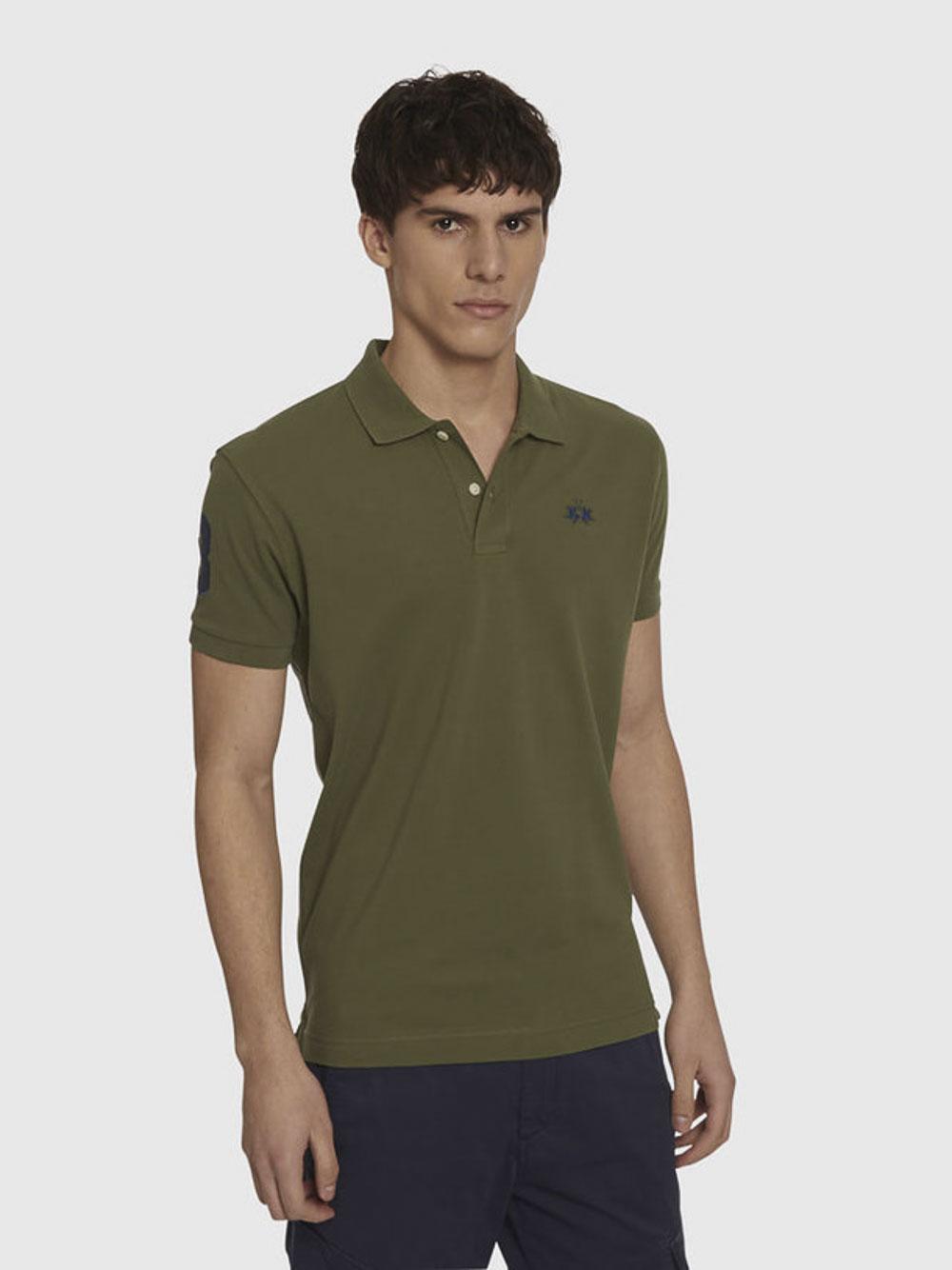 LA MARTINA Μπλούζα Polo 3LMPMP306-20701 ΚΥΠΑΡΙΣΙ