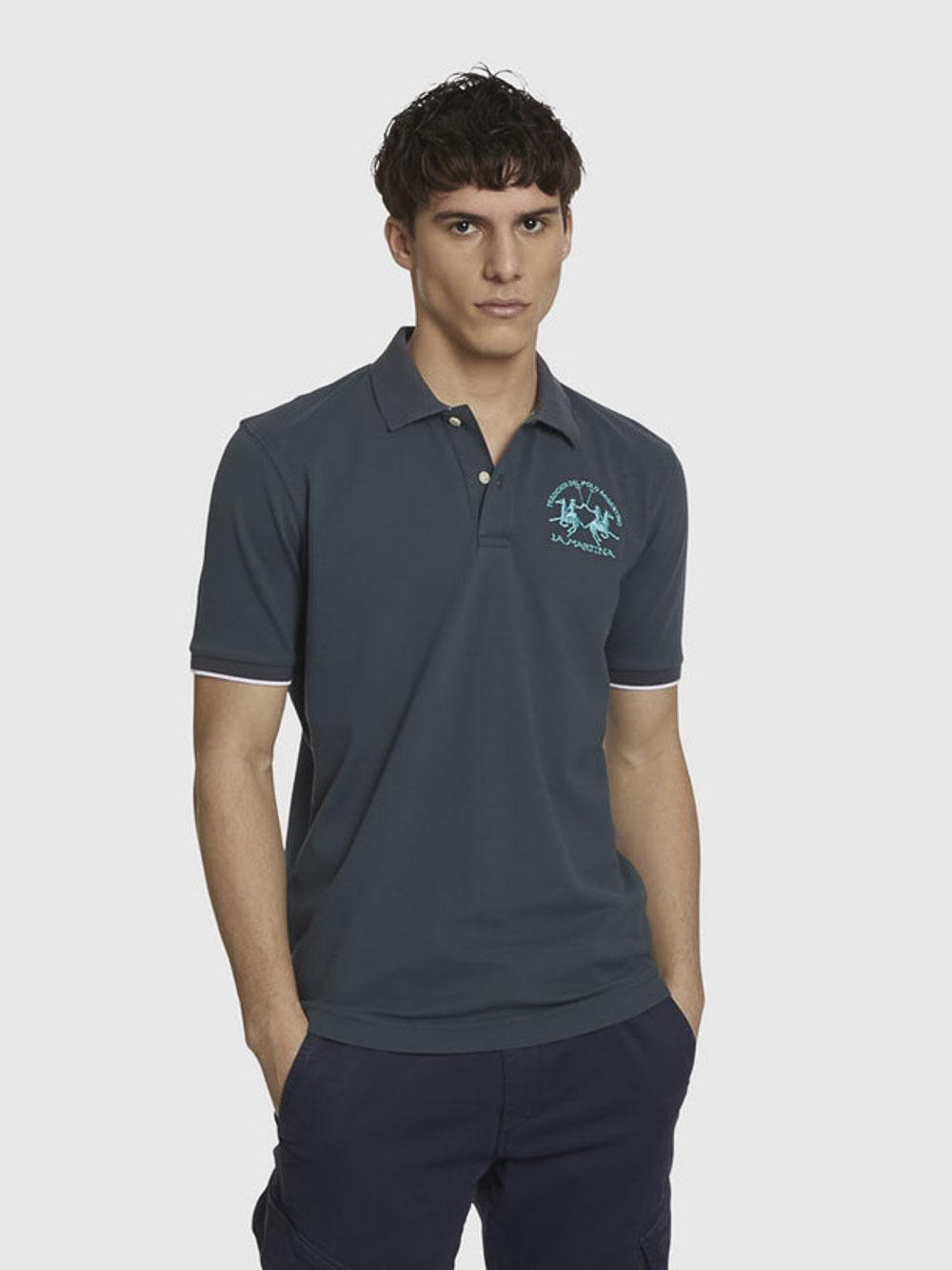 LA MARTINA Μπλούζα Polo 3LMPMP001-09115 ΜΠΛΕ