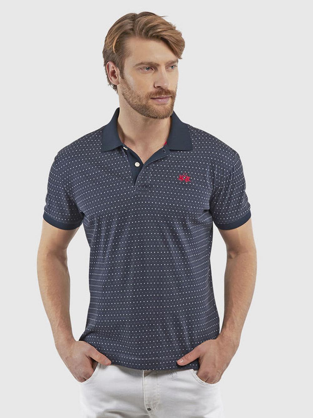 LA MARTINA Μπλούζα Polo 3LMPMP011-F7001 ΜΠΛΕ