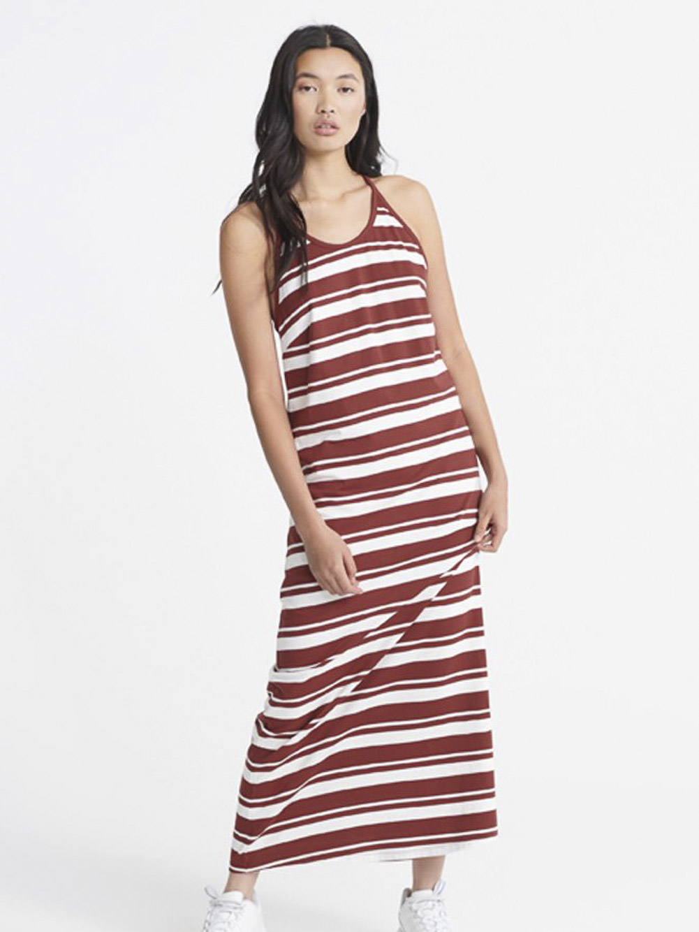 SUPERDRY Φόρεμα αμάνικο W8010132A-ISB ΡΙΓΕ ΜΠΟΡΝΤΩ