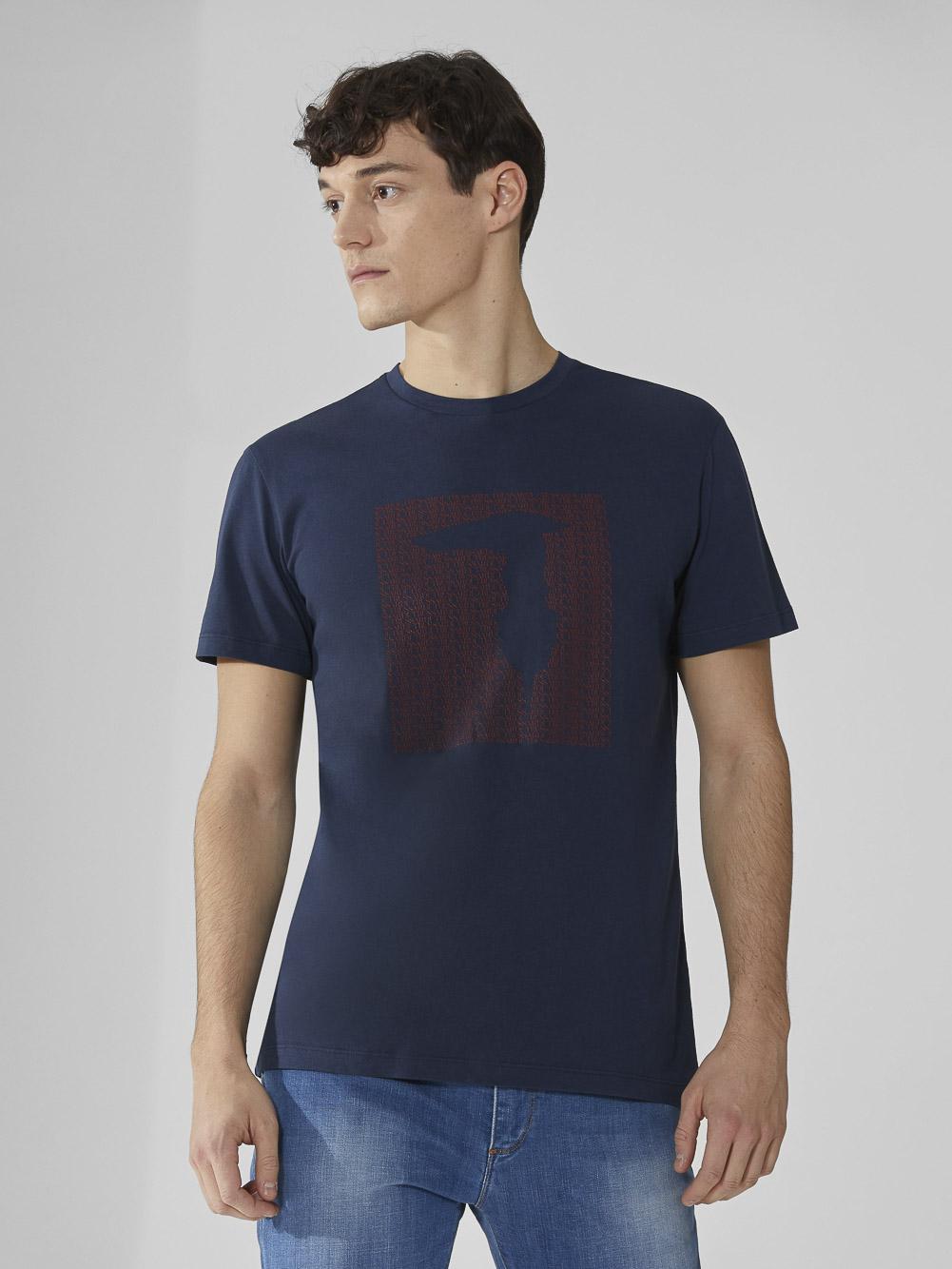 TRUSSARDI JEANS Μπλούζα T-shirt 352T003111T003605 ΜΠΛΕ