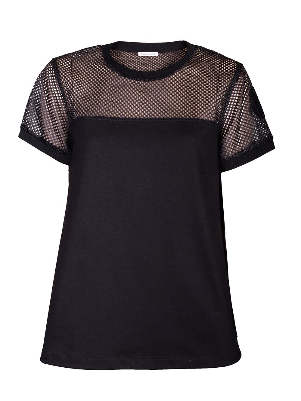 MONCLER Μπλούζα T-Shirt F10938C73400V8102 ΜΑΥΡΟ