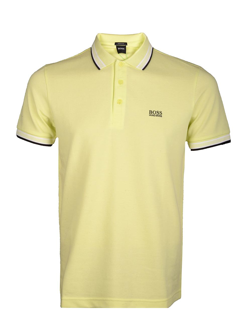 BOSS Μπλούζα Polo 50398302-337 ΛΑΧΑΝΙ