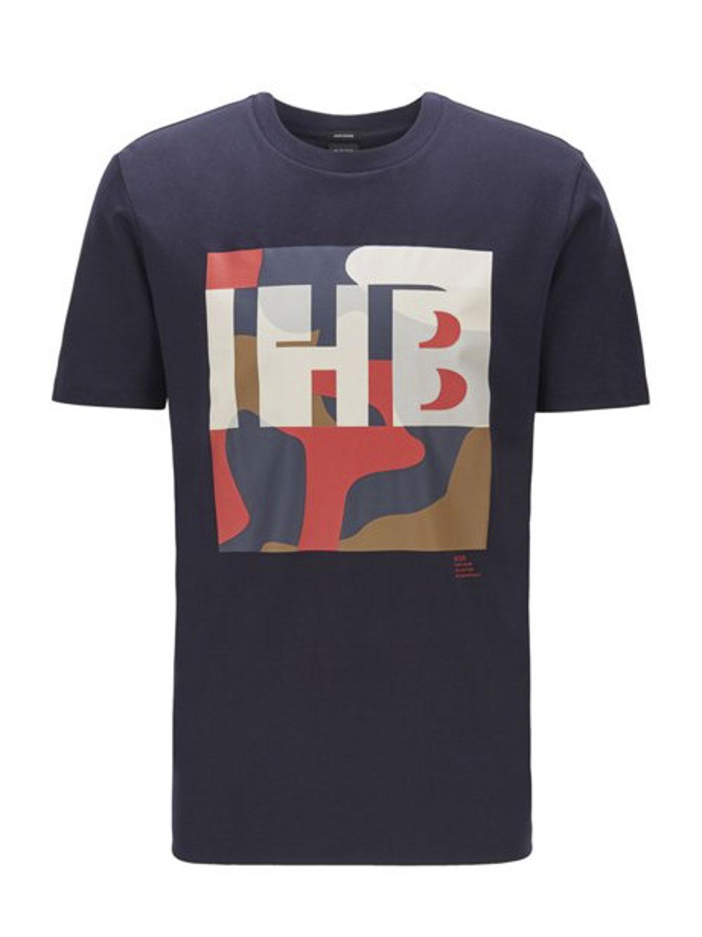 BOSS Μπλούζα T-Shirt 50426065-402 ΜΠΛΕ