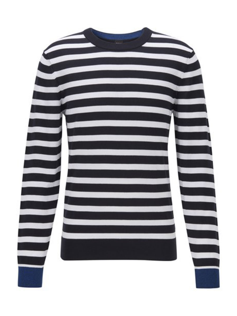 BOSS Μπλούζα T-Shirt 50425573-402 ΡΙΓΕ ΜΠΛΕ