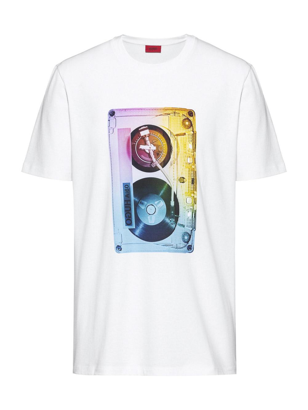 HUGO Μπλούζα T-Shirt 50428216-100 ΛΕΥΚΟ