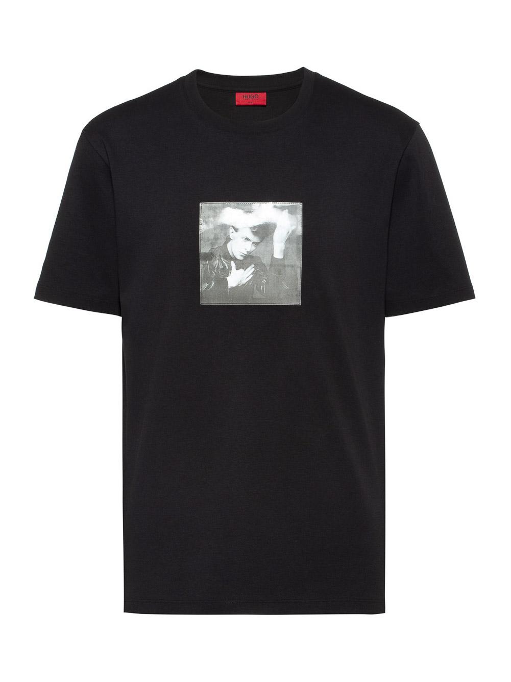 HUGO Μπλούζα T-Shirt 50427467-001 ΜΑΥΡΟ
