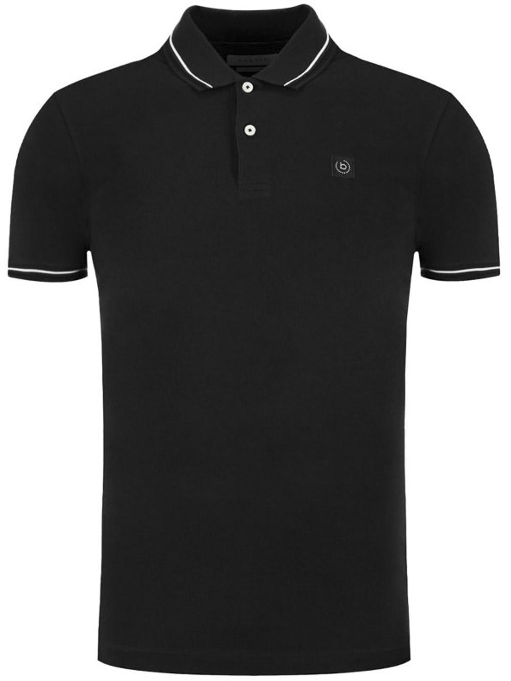 BUGATTI Μπλούζα Polo 8150 55001-290 ΜΑΥΡΟ