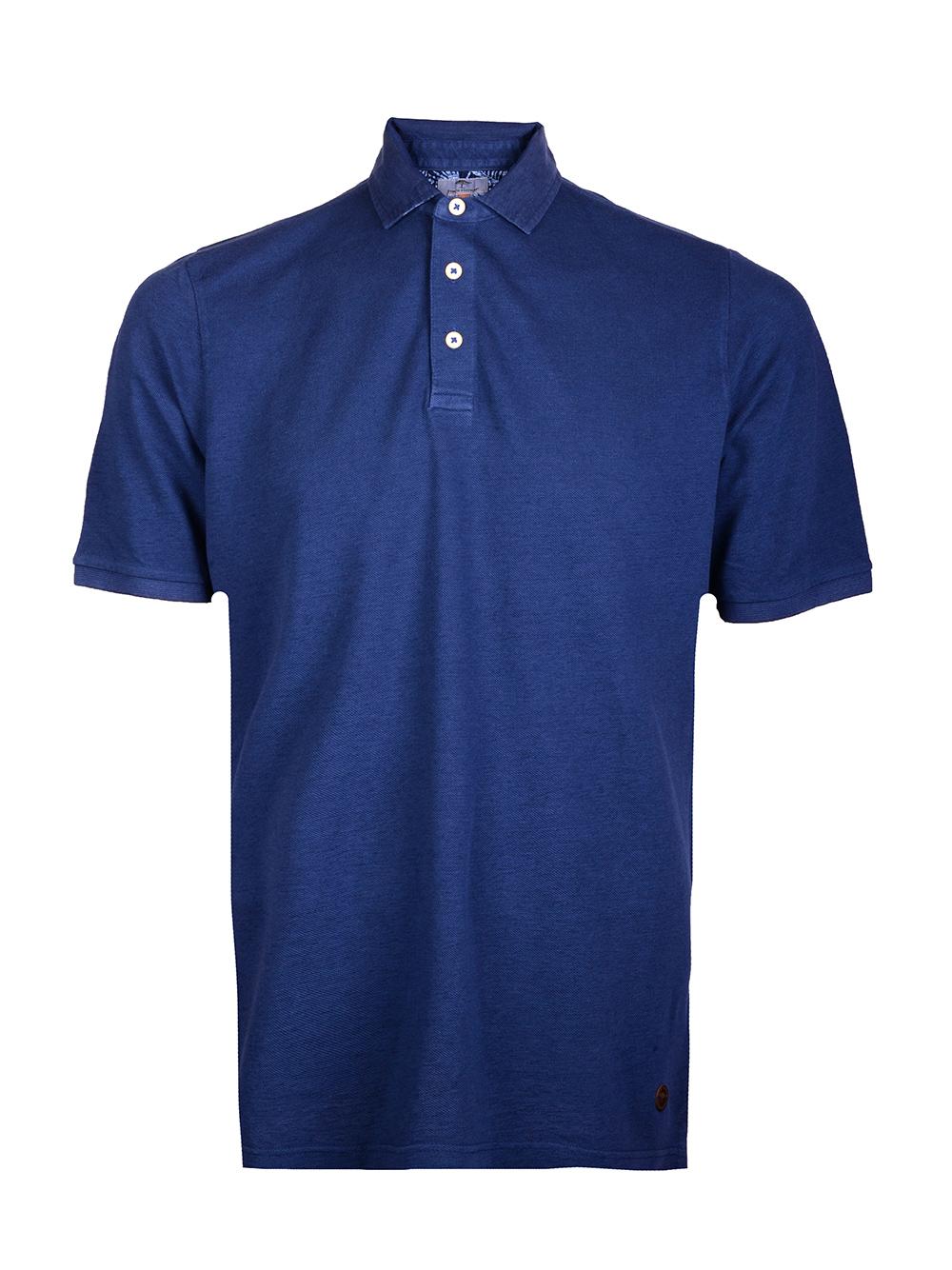 FYNCH-HATTON Μπλούζα Polo 1120 1792-672 ΜΠΛΕ