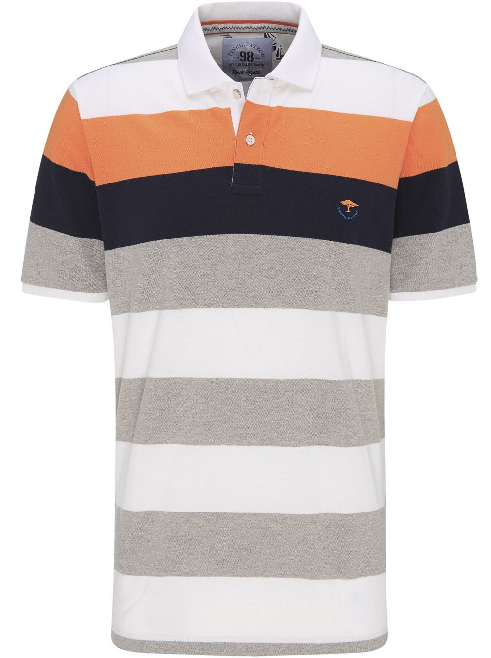 FYNCH-HATTON Μπλούζα Polo 1120 1764-1017 ΡΙΓΕ