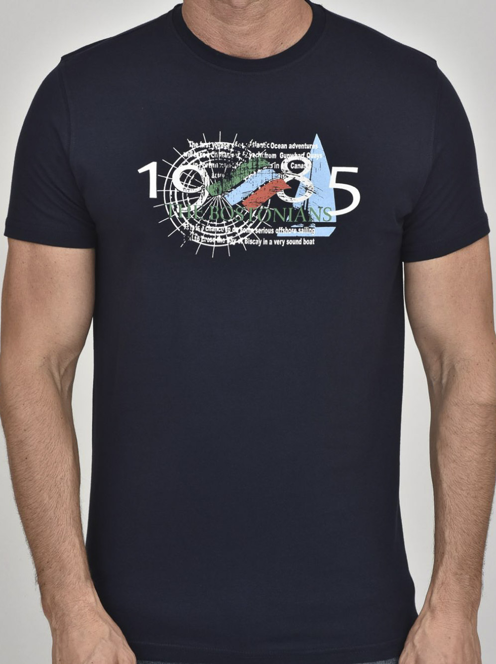 THE BOSTONIANS Μπλούζα T-Shirt 3TS00100-B00166 ΜΠΛΕ
