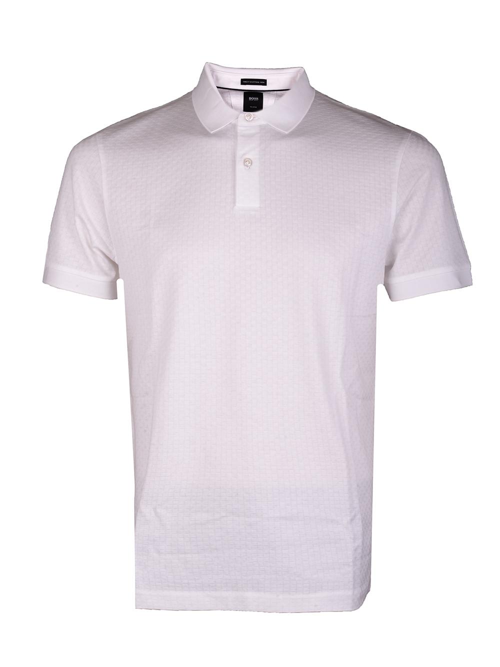 BOSS Μπλούζα Polo 50426970-100 ΛΕΥΚΟ